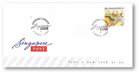 Official Launch of Singapore Post Cover (1 April 1992)