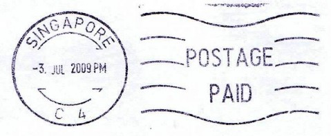 Machine printed 'Postage Paid' postmark