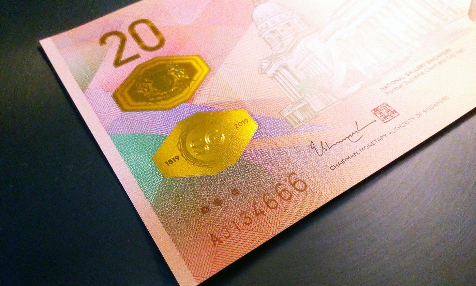 Singapore Bicentennial $20 Last Prefix AJ